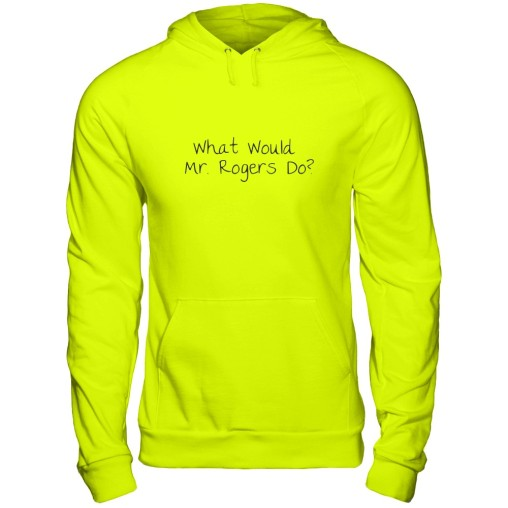 yellow mr rogers hoodie