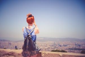 city-woman-view-blue-sky etsy mystery box